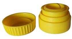 bouchon huile jaune